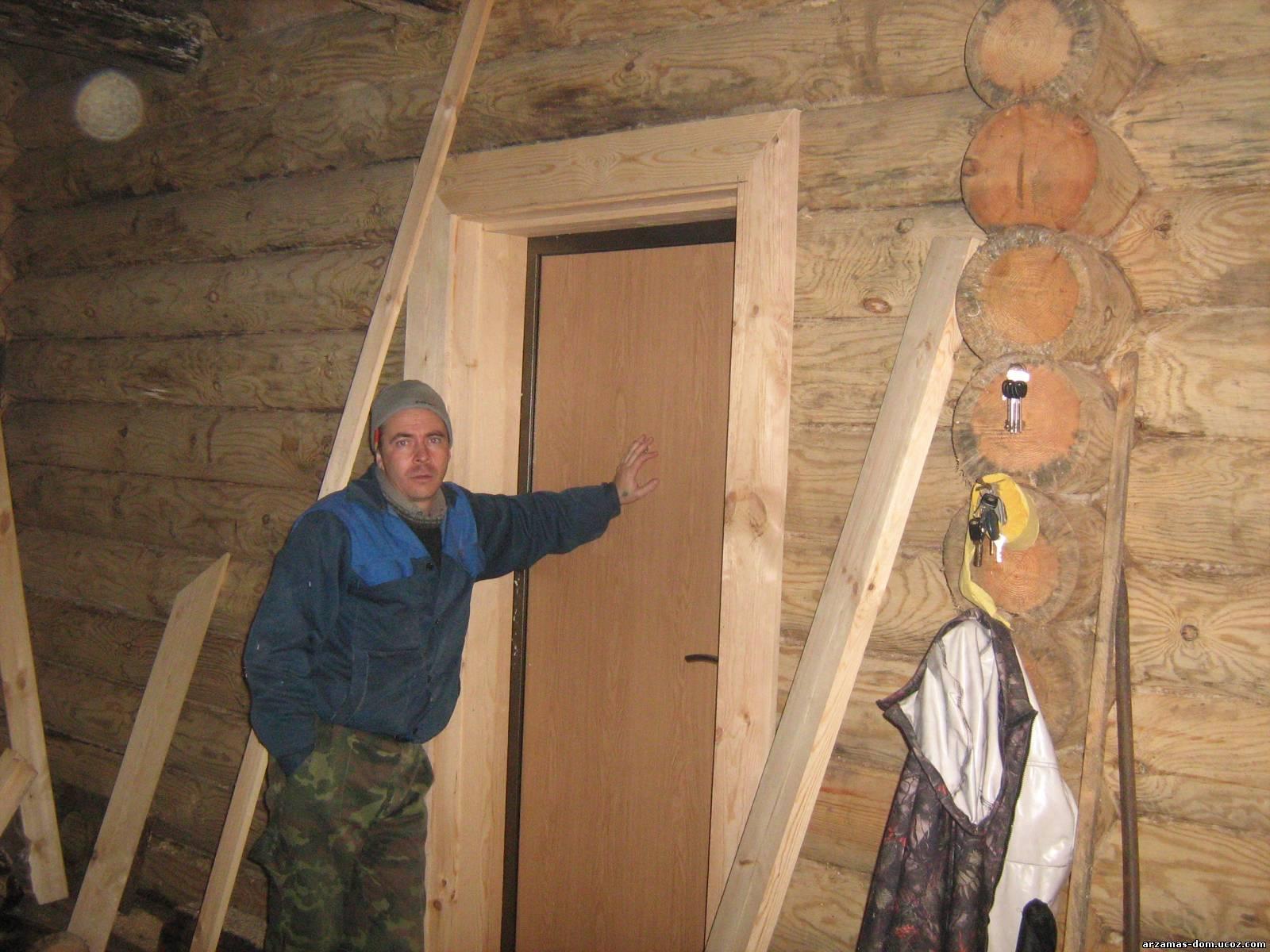 Как сделать двери в срубе 49
